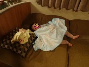 娘は寝ちゃった