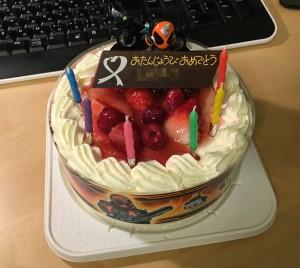 仮面ライダーのケーキ