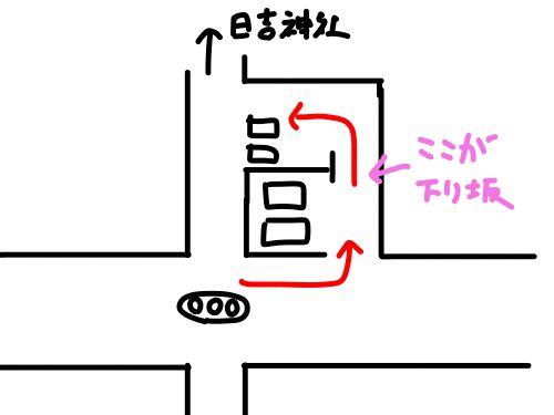 日吉神社前の駐車場