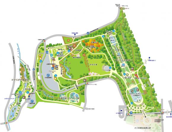 相模原公園園内マップ