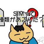 シムサイズは「ナノSIM」に統一しておいた方が良いその理由:格安SIM