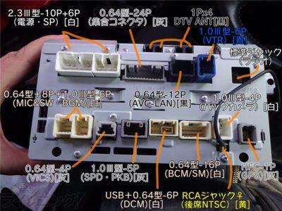 NHZN-W59G裏側コネクタ一覧
